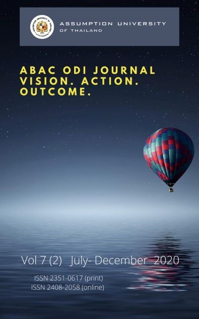 View Vol. 7 No. 2 (2020): ABAC ODI JOURNAL VISION. ACTION . OUTCOME VOL 7(2) JULY-DECEMBER 2020
