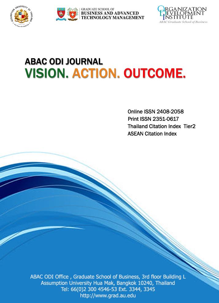 View Vol. 8 No. 2 (2021): ABAC ODI JOURNAL Vision. Action . Outcome             Vol 8(2)  April -September 2021