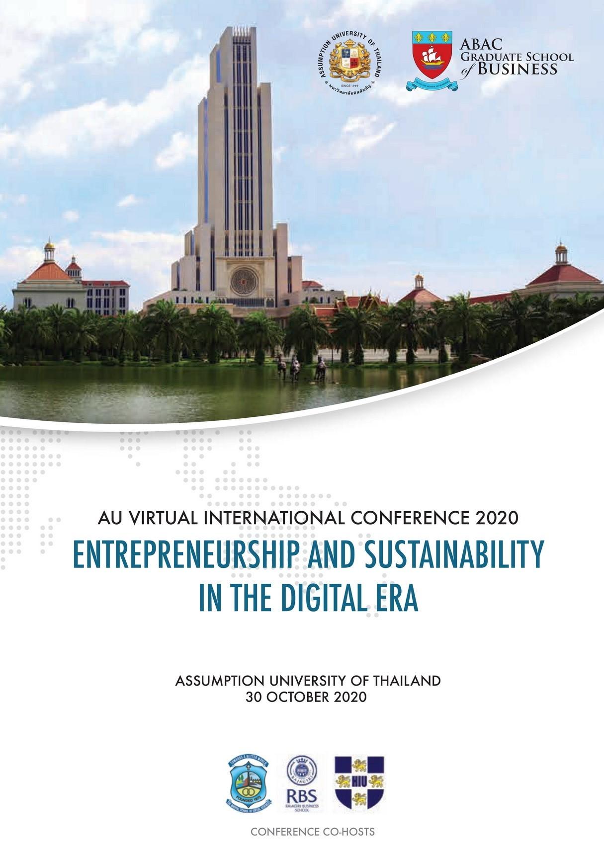View Vol. 1 No. 1 (2020): AU Virtual International Conference 2020